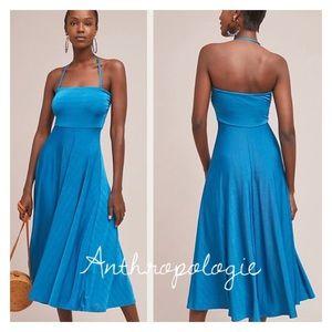 Anthropology penny midi dress